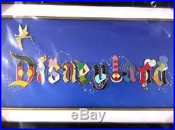 Disney Pin Framed Set DLR Disneyland Character Letter Tinker Bell Cheshire