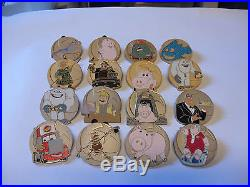 Disney Pin LE WDW Pixar Party 2016 John Ratzenberger Mystery Complete 16 Pin Set
