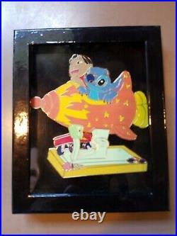 Disney Pin Le Lilo & Stitch Jumbo Rocket Amusement Ride Harmony Kingdom Event