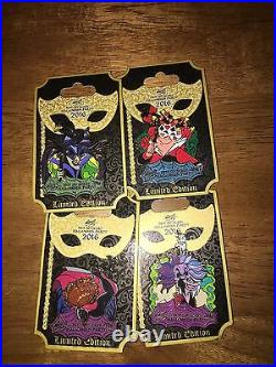 Disney Pin Mickeys Not So Scary Halloween Party 2016 Seven 4 Pin Set