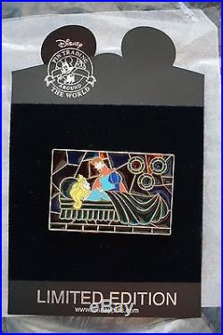 Disney Pin Stained Glass Prince Phillip Princess Aurora Sleeping Beauty LE100