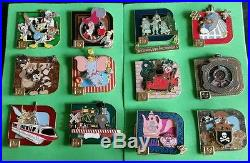 Disney Pin- WDW Classic D Collection 12 pin set LE1000 VHTF COMPLETE SET