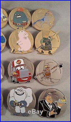 Disney Pin WDW Pixar Party 2016 John Ratzenberger Mystery Complete 16 Pin Set