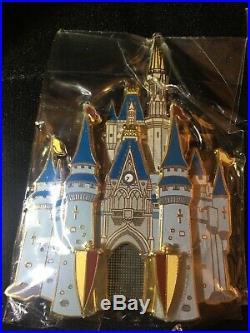 Disney Pins Castle Pin WDW Walt Disney World Cast 3D Jumbo Pin LE RARE