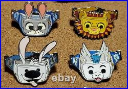 Disney Pins Fantasy Fanny Pack Pins COMPLETE SET Stitch Dumbo Sven & more NEW