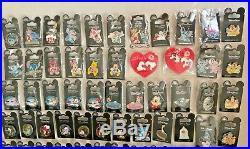 Disney Pins Lot Of 128 Pins Princesses Stitch Star Wars Maps Lollipop Name Taps