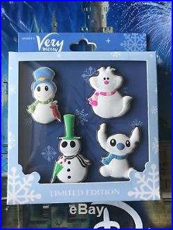 Disney Pins Mickey's Very Merry Christmas Party 2018 Four Pin Box Set LE 300