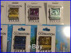 Disney Pixar Party Countdown It's A Celebration 13 Pin Complete Set/Collection