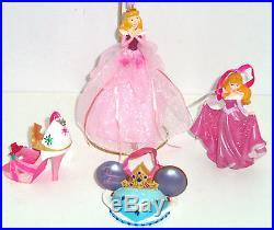 Disney Princess Aurora Shoe Mouse Hat Gown Figurine Ornament Theme Parks