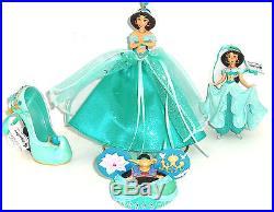 Disney Princess Jasmine Shoe Mouse Hat Gown Figurine Ornament Theme Parks Lot 4