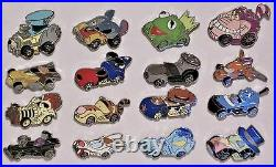 Disney Racers Character Mystry Pack Collection 16 Pin Complete Set NEW CUTE