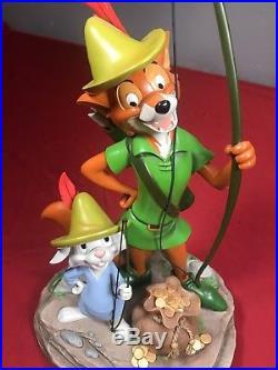 Disney Robin Hood & Skippy 40th Anniversary Theme Park Figure By Costa Alavezos
