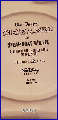 Disney STEAMBOAT WILLIE MICKEY MINNIE Figural Model Sheet Figurine Ltd ed