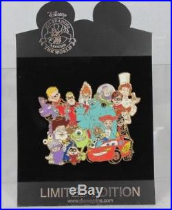 Disney Shopping Jumbo LE 500 Pin Pixar Group Incredibles Toy Story Monsters Inc