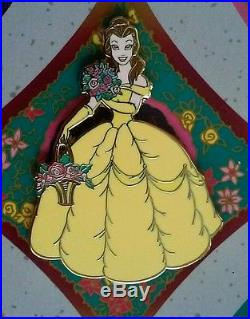 Disney Shopping MOC LE 1000 Princess Garden Card Ariel Belle Auroura 5 Pin Set