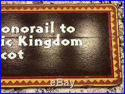 Disney Sign Prop Polynesian Resort Tiki Monorail Magic Kingdom Vintage UNIQUE