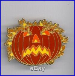Disney Sleepy Hollow Headless Horseman Flaming Pumpkin Framed Set LE 50 Pin RARE