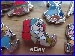 Disney Snow White 80th Anniversary Seven Dwarfs LE 300 Pin Box Set
