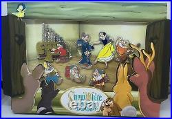 Disney Snow White Seven Dwarfs 80th Anniversary LE Pin Box Set Princess New
