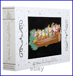 Disney Snow White and the (7) Seven Dwarves Jumbo Pin Box Set Only 400 LE RARE