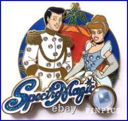 Disney SpectroMagic Parade Piece of History Cinderella & Prince Charming Pin LE