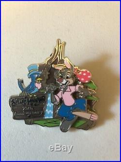 Disney Splash Mountain 25th Anniversary Brer Rabbit 3-D Slider Pin LE 1500 RARE