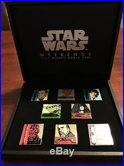 Disney Star Wars Weekends Wdw 2006 -8 Pin Light Saber Set Limted Edition