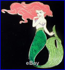 Disney Store D23 Expo Exclusive Art of Ariel Jumbo Pin LE 300 Little Mermaid
