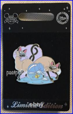 Disney Store LE 300 Pin Si & Am Fishbowl Siamese Cat UK Lady Tramp 65th Yr 2020