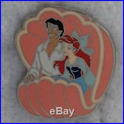 Disney Store Parks Pin The Little Mermaid Ariel Eric Adventure Mystery Clamshell