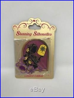 Disney Store Princess Stunning Silhouettes Jumbo Pin Tangled Rapunzel LE 300