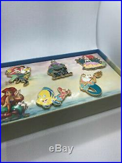 Disney Store UK The Little Mermaid LE 150 5 Pin Box Set Ariel Ursula Eric Europe