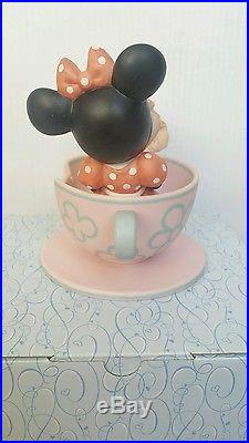 Disney THEME PARK EXCLUSIVE Precious Moments YOU ARE MY CUP OF TEA Minnie Mouse