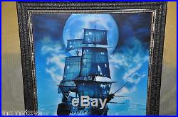 Disney The Black Pearl Canvas Giclee By John Rowe Pirates Of The Caribbean