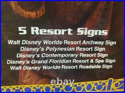 Disney Theme Park Collection Monorail Accessories 5 Resort Signs Polynesian Etc