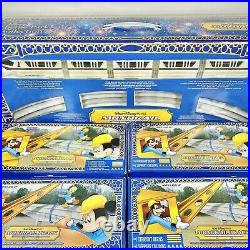 Disney Theme Park Collection Monorail Black Play Set +4 New Boxes Straight Beams