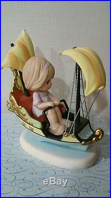 Disney Theme Park Precious Moments Peter Pan's Flight Hand Signed /NEW IN BOX