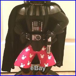 Disney Theme Park RARE Star Wars DARTH GOOFY Vader Large Big Figure Statue w Box