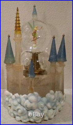 Disney Theme Park Tinkerbell Musical Lighted Snow Globe Plays When You Imagine