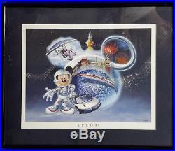 Disney Theme Parks Framed Prints- Matching Set of 4- NICE! (LH-128)
