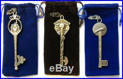 Disney Theme Parks Key Collection 3 pc set EPCOT, AK & MK Keys FREE SHIPPING