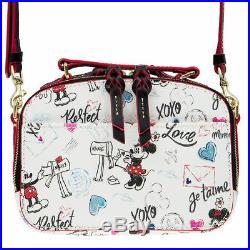 Disney Theme Parks Mickey and Minnie Sweethearts Ambler Crossbody Bag by Dooney