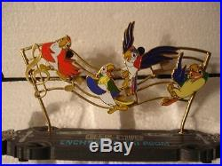 Disney Tiki Room 50th Original Glee Club Box Pin & Resin Sculpture Set of 4 Le