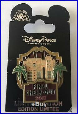 Disney Tower Of Terror FINAL CHECKOUT 2 Limited Edition Pins Annual Passholder