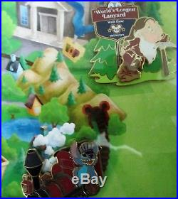 Disney- Trade City, USA Must See Attractions FRAME LE 50 SET 8 PINS