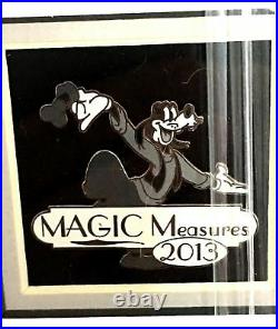 Disney Travel Center 2013 Magic Measures Framed Cast Member Pin Set