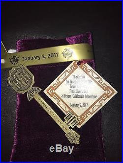 Disney Twilight Zone Tower Of Terror Key Final Checkout Ride Closing Collectible