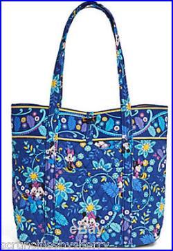 Disney Vera Bradley Dreaming Tote Bag Minnie Mickey Mouse Blue Theme Parks