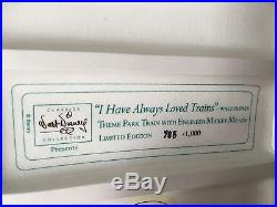 Disney WDCC I have always loved trains Theme Park Train withEngineer Mickey