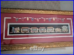 Disney WDI 2013 Holiday Christmas Train Series Pin Frame Set
